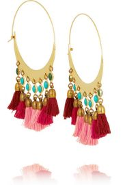 Isabel Marant  Gold-plated beaded hoop earrings at Net A Porter