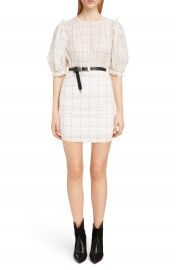 Isabel Marant Check Print Organza Dress at Nordstrom