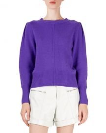 Isabel Marant Conway Cashmere Puff-Sleeve Sweater at Neiman Marcus