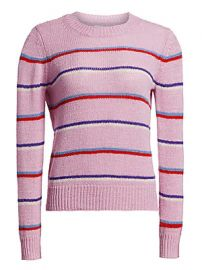 Isabel Marant Etoile - Crewneck Striped Ribbed Sweater at Saks Fifth Avenue