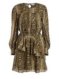 Isabel Marant Etoile - Java Python Print Mini A-Line Dress at Saks Fifth Avenue