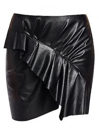 Isabel Marant Etoile - Zeist Ruffle Faux-Leather Mini Skirt at Saks Fifth Avenue