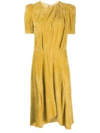Isabel Marant Fanao Ruched Velvet Dress - Farfetch at Farfetch