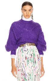 Isabel Marant Inko Sweater in Purple   FWRD at Forward