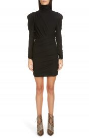 Isabel Marant Long Sleeve Ruched Jersey Body-Con Minidress   Nordstrom at Nordstrom