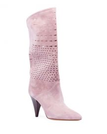 Isabel Marant Lurrey Cutout Suede Knee Boots at Neiman Marcus