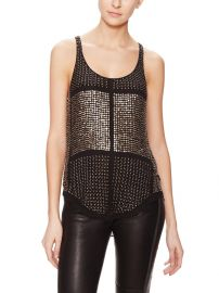 Isabel Marant Peachy Silk Brass Embellished Top at Gilt