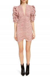 Isabel Marant Print Silk Puff Sleeve Dress at Nordstrom