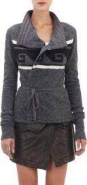Isabel Marant Shanley Key-Pattern Wrap Cardigan at Barneys