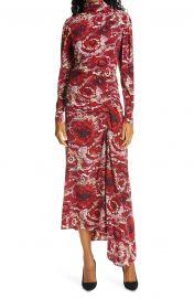 Isabella Floral Long Sleeve Asymmetrical Maxi Dress at Nordstrom