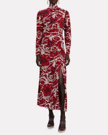 Isabella Floral Silk High Neck Dress at Intermix