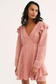 Isabella Mini Dress in Dusty Rose at Free People