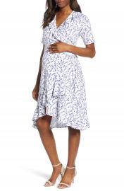 Isabella Oliver Lullah Ruffle Wrap Maternity Dress   Nordstrom at Nordstrom