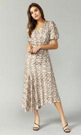 Isabella Snake Print Maxi Dress by Greylin at Greylin