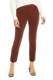 Isabelle Straight Corduroy Jeans in Dusty Auburn by AG at Nordstrom Rack