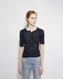 Isable Marant Dina Henley Sweater Tee at La Garconne