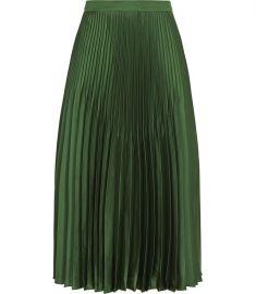 Isidora Dark Green Knife Pleat Skirt at Reiss