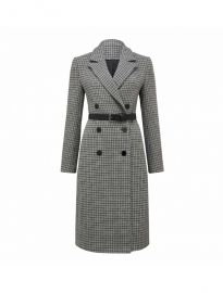 Isla Belted Check Coat at Ever New