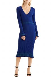 Isolde ribbed-knit midi dress at The Outnet