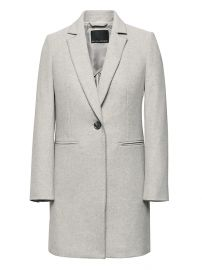 Italian Melton Car Coat at Banana Republic