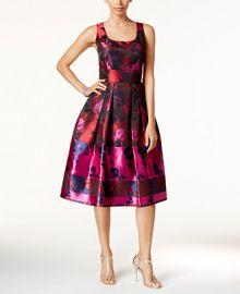 Ivanka Trump Floral-Print Fit   Flare Dress at Macys