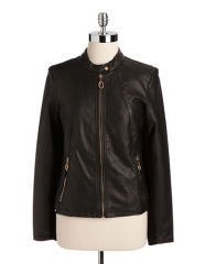 Ivanka Trump Leather Jacket at Lord & Taylor