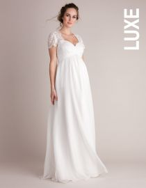 Ivory Silk & Lace Maternity Wedding Gown at Seraphine