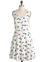 Ivory Skies Dress at Modcloth at Modcloth