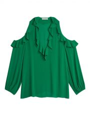 Ivy Gia Ruffle Cold Shoulder Blouse at Orchard Mile