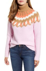 J Crew Fair Isle Turtleneck Sweater in Supersoft Yarn   Nordstrom at Nordstrom
