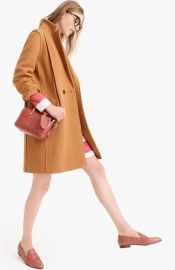 J. Crew Daphne Coat in Warm Caramel at Nordstrom