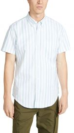 J. Crew Striped Pima Stretch Oxford Stripe Shirt at East Dane