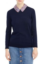 J. Crew Tippie Sweater with Liberty Collar at Nordstrom
