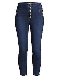 J Brand - Natasha Sky High Crop Skinny Jeans at Saks Fifth Avenue