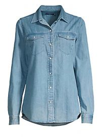 J Brand - Perfect Button-Down Denim Shirt at Saks Fifth Avenue