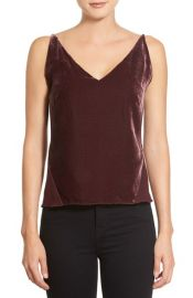 J Brand Lucy Velvet Front Camisole at Nordstrom