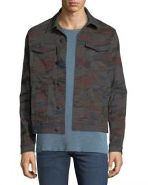 J Brand Men  x27 s Acamar Multicolor Camo Trucker Jacket at Neiman Marcus