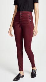 J Brand Natasha Sky High Coated Skinny Jeans at Shopbop