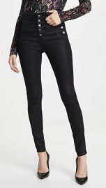 J Brand Natasha Sky High Coated Skinny Jeans at Shopbop