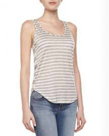 J Brand Ready to Wear Bell Mixed-Stripe Tank Top at Neiman Marcus
