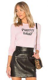 J Brand x Bella Freud Cashmere Pretty Baby Jumper in Blancmange  amp  Black from Revolve com at Revolve