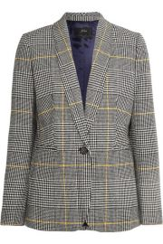 J Crew - Parke Prince of Wales checked tweed blazer at Net A Porter