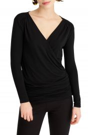 J Crew 365 Stretch Faux Wrap Top   Nordstrom at Nordstrom