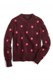 J Crew Button Detail Supersoft Dot Crewneck Sweater  Regular  amp  Plus Size    Nordstrom at Nordstrom