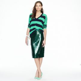 J Crew Collection pencil skirt in tile sequin at J. Crew
