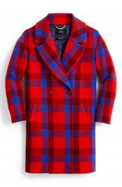 J Crew Plaid Italian Stadium Cloth Wool Blend Oversize Top Coat  Regular  amp  Plus Size    Nordstrom at Nordstrom
