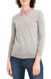 J Crew Tippi Liberty Print Collar Sweater  Regular  amp  Plus Size    Nordstrom at Nordstrom