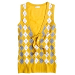 J Crew argyle sweater vest at J. Crew
