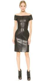 J Mendel Leather Off Shoulder Dress at Shopbop