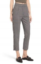 J O A  Button Side Crop Trousers at Nordstrom